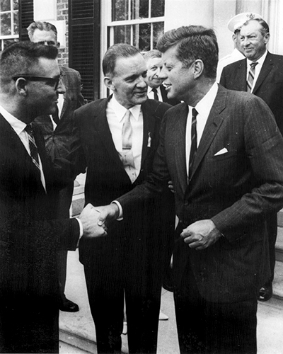 Photo of John F. Kennedy with Carl Haywood
