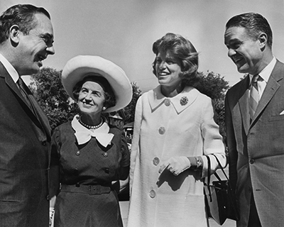 Photo of Rose Kennedy, the Shrivers, and the Governor at the Convocation