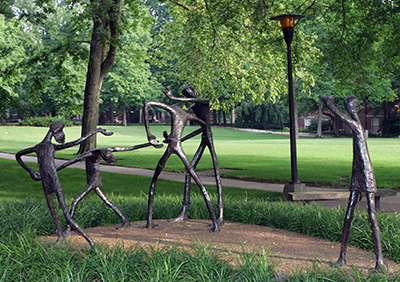 """Photo of the sculpture """"Come Play"""" by Nashville artist Katherine Blackman Haven"""