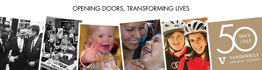 50 year banner collage - opening doors, transforming lives