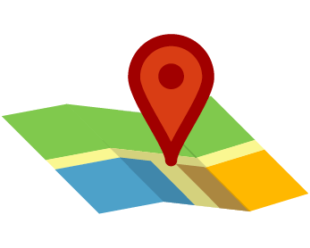 illustration of pin highlighting location on a map