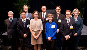Vanderbilt University's eight newest endowed chair holders were celebrated for their path-breaking scholarship and research by family members, donors, colleagues and friends during a Feb. 25 ceremony at the Student Life Center.