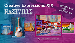 <p>(October 2013 - January 2014)</p><p>Co-sponsored by the Vanderbilt Kennedy Center and the Nashville Mayor's Advisory Committee for People with Disabilities, this annual exhibit features works of art by artists with a wide range of abilities/disabilities and ages. Since its inception in 1976, the Mayor's Advisory Committee has promoted public education and awareness, and advocated for persons with disabilities and their family members.</p>