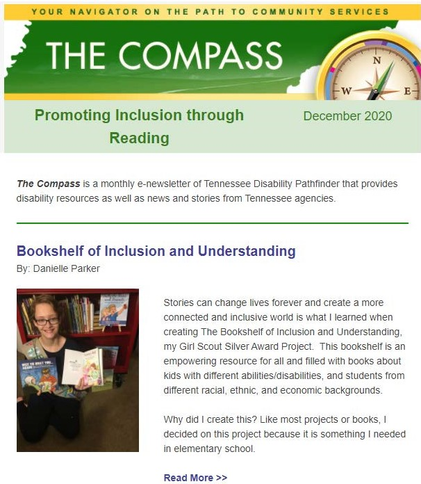 Screen shot of Compass e-newsletter