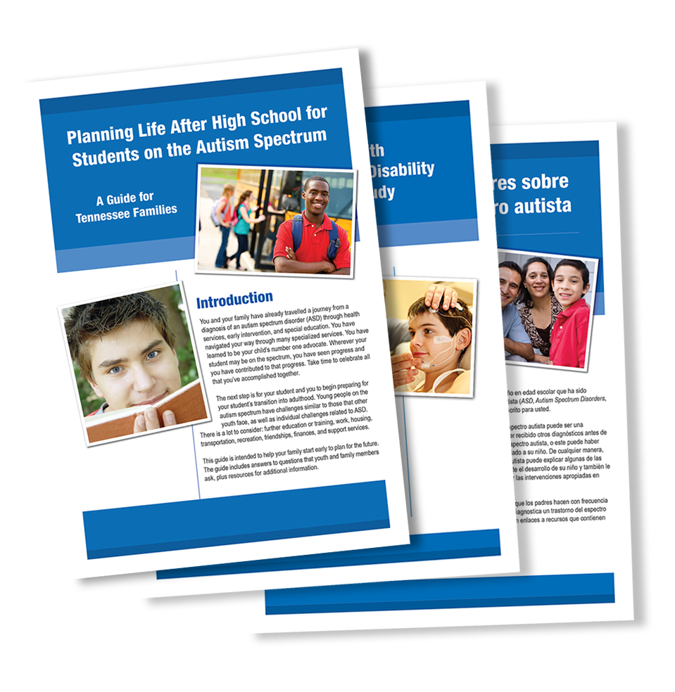 picture of autism brochures and fliers